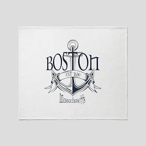 Boston Anchor Throw Blanket