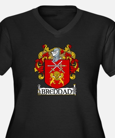 Brennan Coat of Arms Women's Plus Size V-Neck Dark