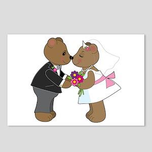 Teddy Wedding Postcards (Package of 8)