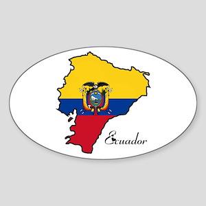 Cool Ecuador Oval Sticker