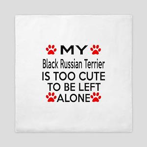 Black Russian Terrier Is Too Cute Queen Duvet