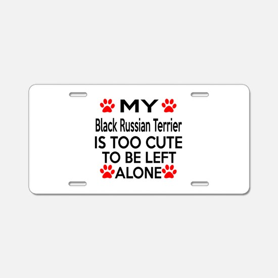 Black Russian Terrier Is To Aluminum License Plate