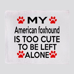 American foxhound Is Too Cute Throw Blanket
