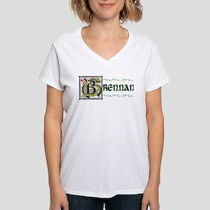 Brennan Celtic Dragon Women's V-Neck T-Shirt