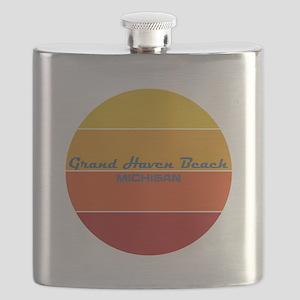 Michigan - Grand Haven Beach Flask
