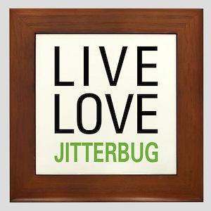 Live Love Jitterbug Framed Tile