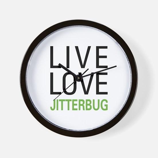 Live Love Jitterbug Wall Clock
