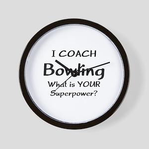 coach bowling Wall Clock