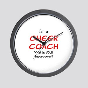 cheer coach Wall Clock