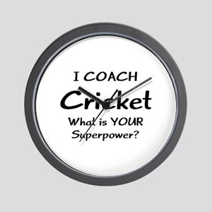 cricket coach Wall Clock