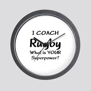 rugby coach Wall Clock