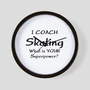 skating coach Wall Clock