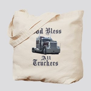 God Bless All Truckers Tote Bag