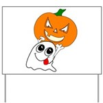 Ghost Jack-O-Lantern Yard Sign