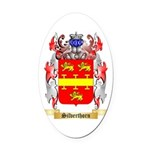 Silverthorn Oval Car Magnet