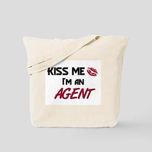 Kiss Me I'm a AGENT Tote Bag