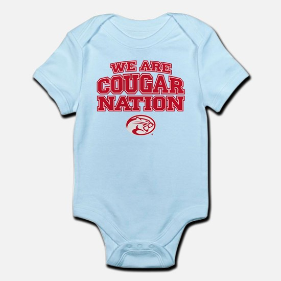 We Are Cougar Nation Baby Light Bodysuit