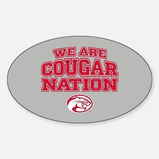 We Are Cougar Nation Sticker (Oval)