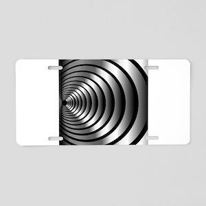 High tech metallic ring bac Aluminum License Plate