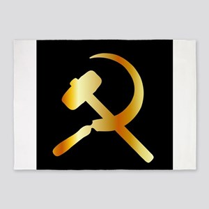 Communism Symbol 5'x7'Area Rug