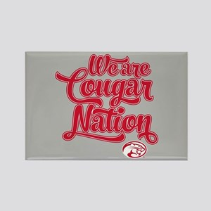 We Are Cougar Nation Rectangle Magnet