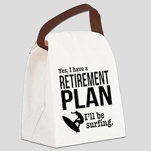 Surfing Retirement Plan Canvas Lunch Bag