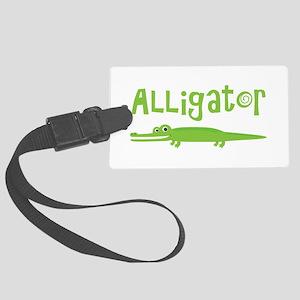 Cute Alligator Large Luggage Tag