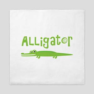 Cute Alligator Queen Duvet
