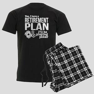 Poker Retirement Plan Men's Dark Pajamas