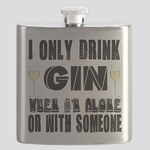 I Only Drink Gin Flask