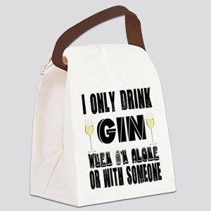 I Only Drink Gin Canvas Lunch Bag
