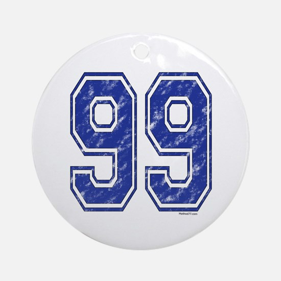 99 Jersey Year Ornament (Round)