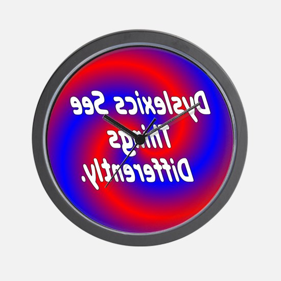 Dyslexics See Wall Clock