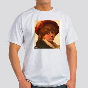 Pretty Victorian Girl Red Hat T-Shirt