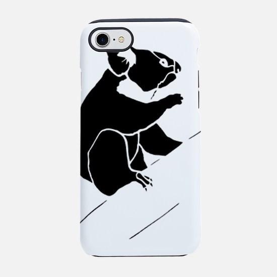 Kola Bear silhouette iPhone 8/7 Tough Case