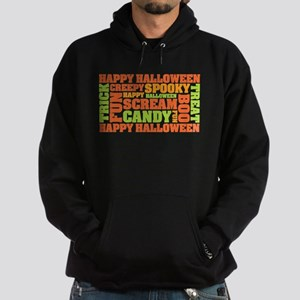 Halloween Typography Text Hoodie (dark)