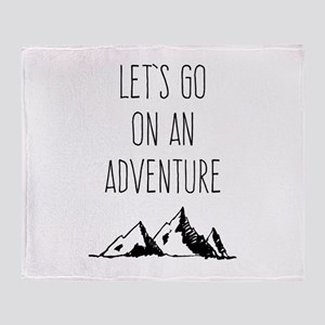 Let's Go On An Adventure Throw Blanket