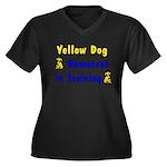 Yellow Dog Democrat Women's Plus Size V-Neck Dark