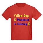 Yellow Dog Democrat Kids Dark T-Shirt