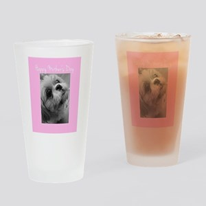 Mother's Day Shih Tzu Drinking Glass