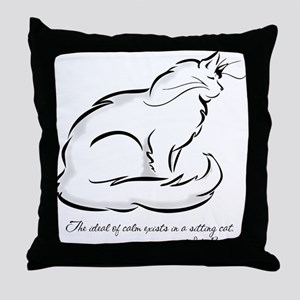 Ideal of Peace Cat Throw Pillow
