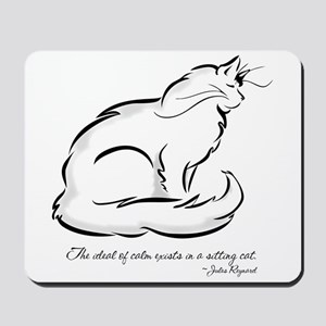 Ideal of Peace Cat Mousepad