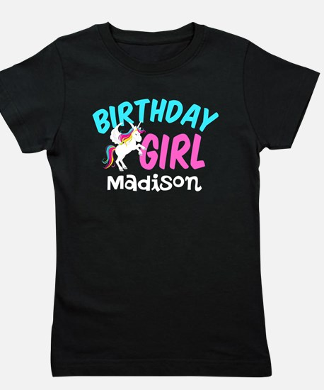 Unicorn Birthday Girl's Tee