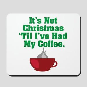 Funny Christmas Coffee Mousepad