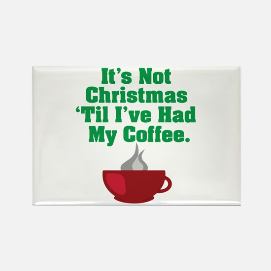 Funny Christmas Coffee Rectangle Magnet