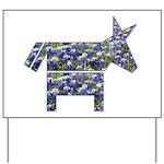 Texas Blue Donkey Yard Sign