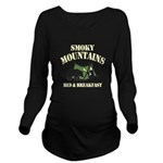 Smoky Mountains Long Sleeve Maternity T-Shirt