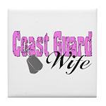 Coast Guard Wife Tile Coaster
