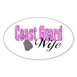 Coast Guard Wife Oval Sticker