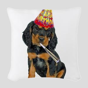 Gordon Setter Party Woven Throw Pillow